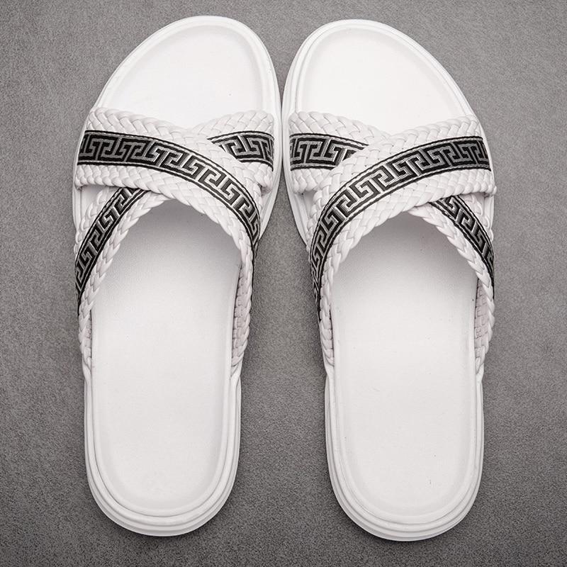 Hausschuhe männer chinelos rutschen strand flip-flops casual sommer 2020 marke mens handgemachte sandalen Hohe Qualität alias playa hombre