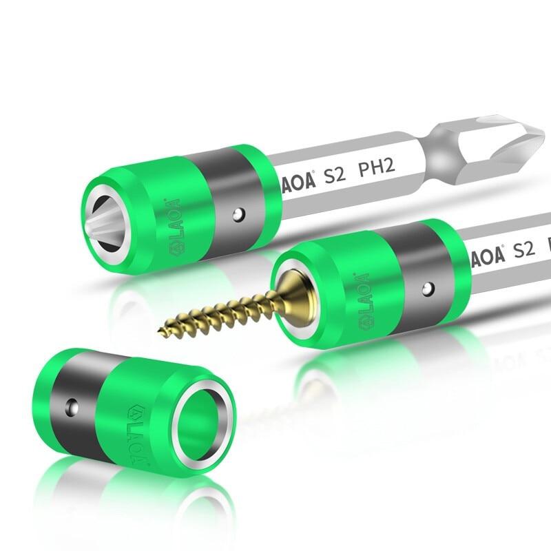 S2 1/4 hüvelykes csavarhúzó mágneses gyűrűvel, 6,35 mm-es elektromos csavarhúzókkal és mágneses gyűrűvel