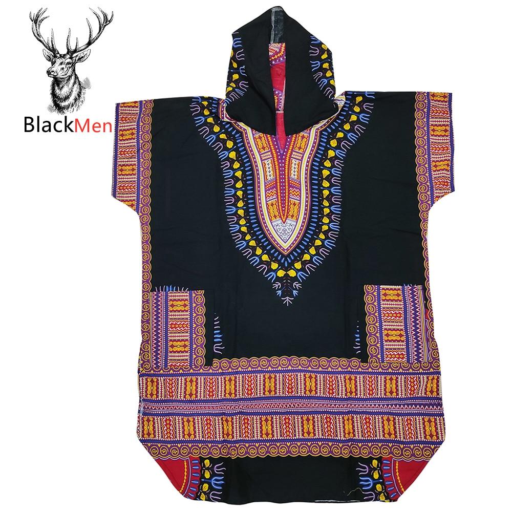 2020 модная одежда в африканском стиле Дашики печать 100% хлопок короткий рукав рубашка удлиненные толстовки традиционный принт для унисекс