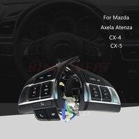 Car Multi-function Steering Wheel Switch Audio Bluetooth Cruise Control Switch Button For Mazda 3 Axela Atenza CX5 CX-4 CX-5