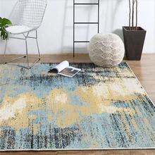 Teppiche für Wohnzimmer Moderne Abstrakte Blau Schwarz Tinte Malerei Muster Teppich Bereich Teppich für Schlafzimmer Grau Moderne Wohnkultur