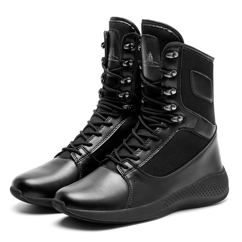 Men Boots Newest Fashion Style High Ankle All-match Shoes Pu Leather Cloth Male Casual Sneakers Shoe
