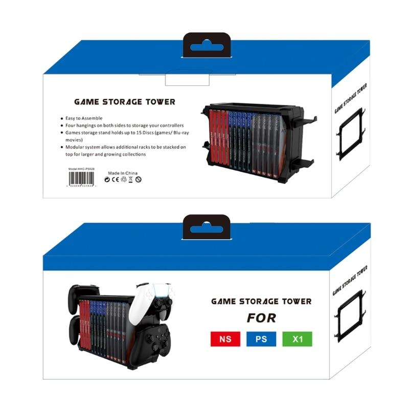 For Switch PS5 / PS4 / -XBOX S/X Series Disc Cuffie Rack di Archiviazione Suppor W0YE