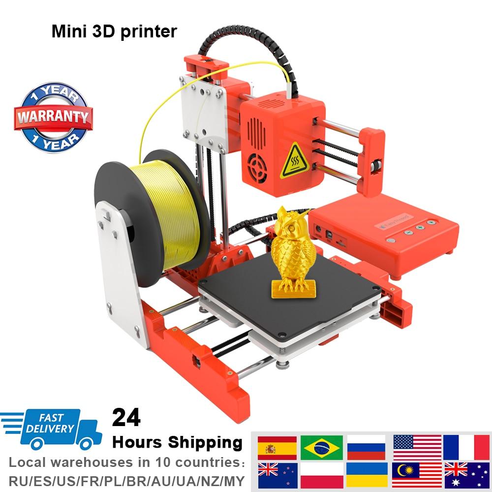 Impresora 3D, Mini impresoras de escritorio, educación para niños, FDM, impresión DIY, modelo de diseño, juguete, Impresora 3d fácil de usar, pequeña Impresora 3D