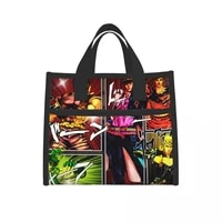 jojo lunch bags for women insulated lunch box cooler tote bag with front pocket reusable lunch bag for men adults girls