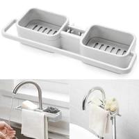 kitchen sink faucet sponge soap cloth drain rack storage box storage double kitchen accessories storage box 30fp26
