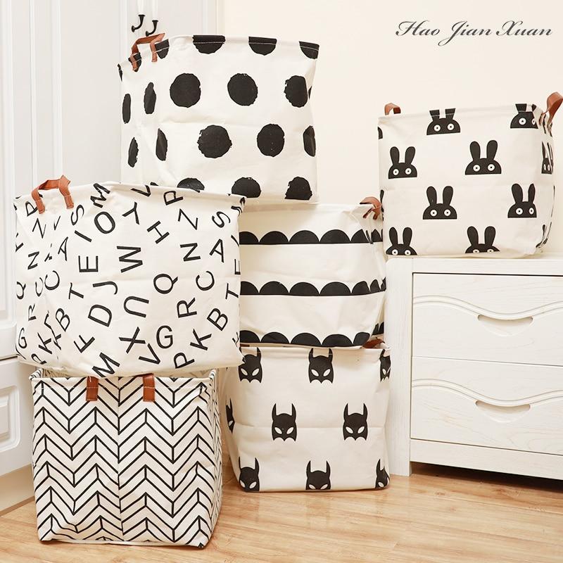 Cube Folding Laundry Basket For Kids Toy Storage Basket Sundries Books Lego Dog Toys Organizer Stora