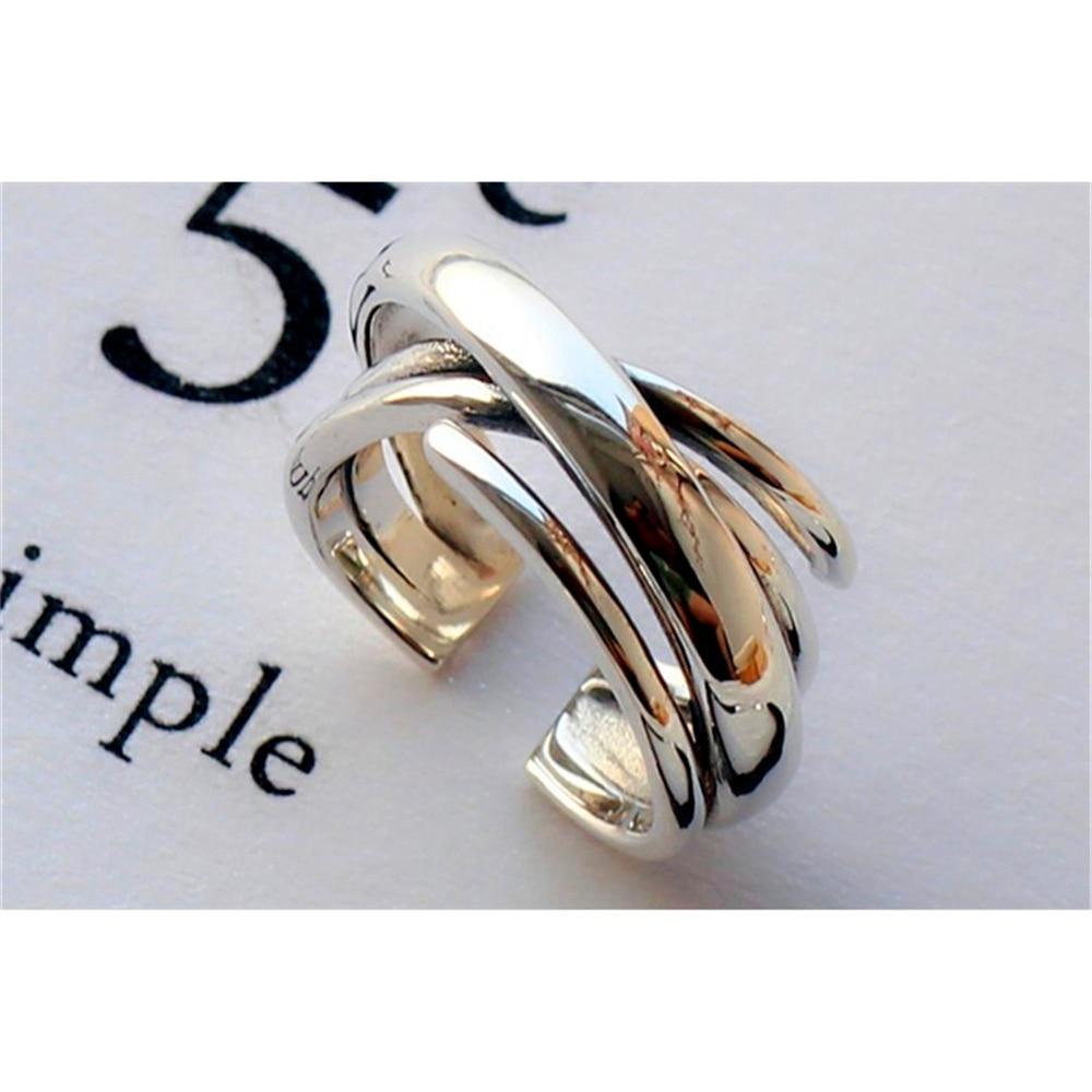 Loredana moda multi-capa irregular simple superficie lisa multi-capa de bobinado anillo abierto productos para hombres y mujeres