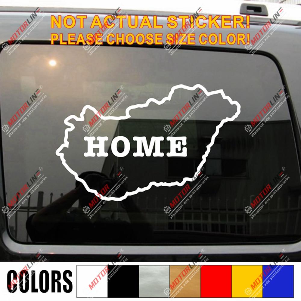 Hungria orgulho húngaro mapa decalque adesivo esboço silhueta carro vinil casa