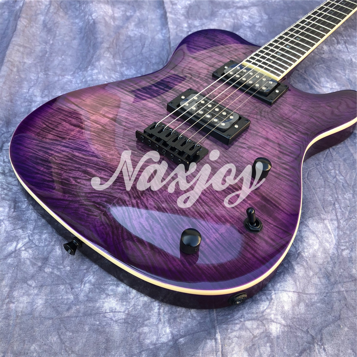 Purple Flame Maple Top TL Electric Guitar Rosewood Fingerboard Solid Wood Body 6 Strings Guitarra enlarge