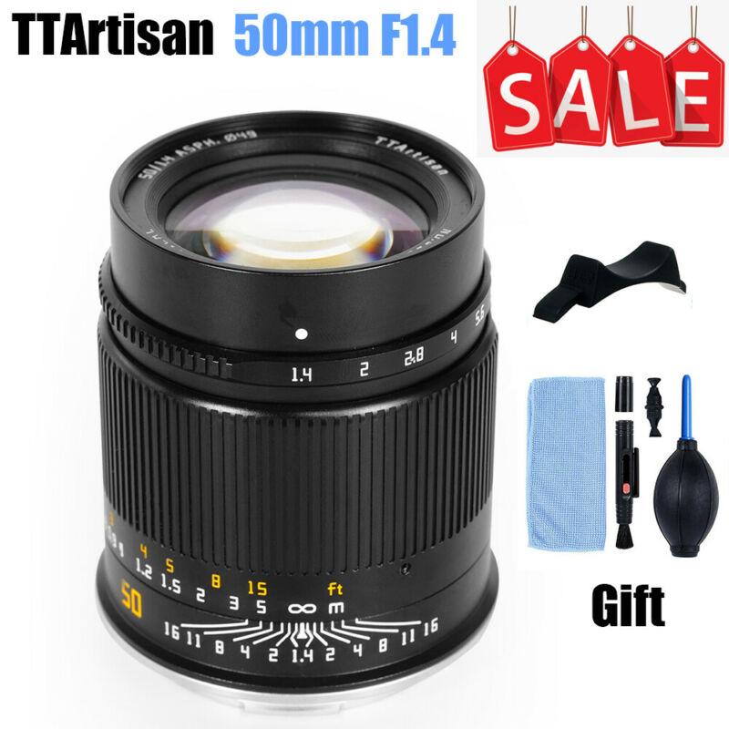 TTArtisan 50 مللي متر F1.4 الإطار الكامل MF عدسة لسوني E نيكون Z كانون R Leica L