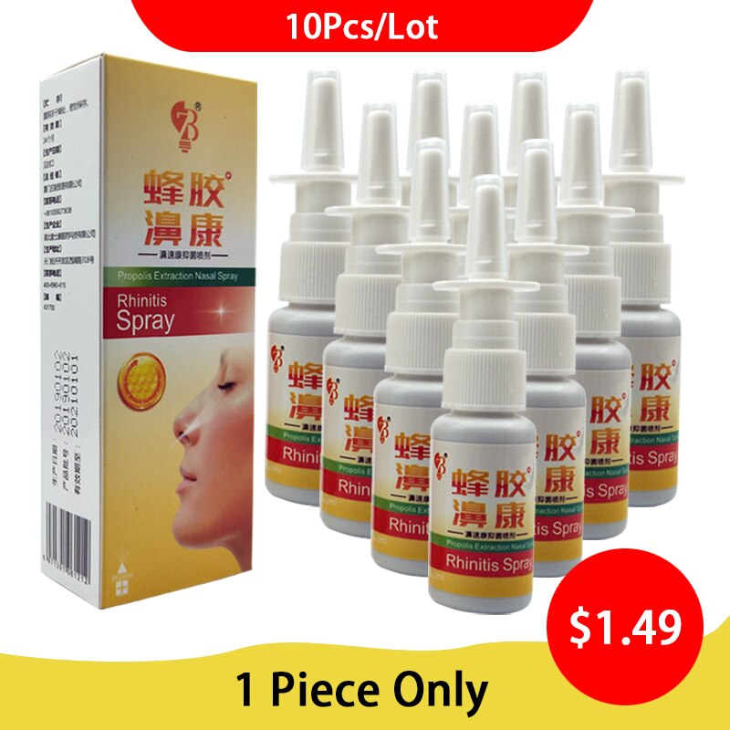 10Pcs/Lot Propolis Extraction Nasal Spray Chinese Medical Chronic Sinusitis Herb Nasal Spray Treatme