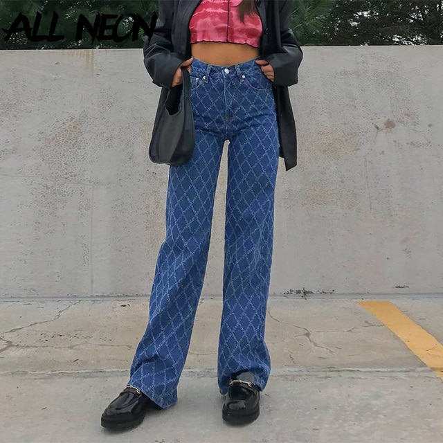 90s street clothes, Tatan jeans, Y2K, high waist, blue jeans, retro, independent, skateboard suit  ripped jeans for women