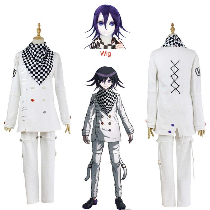 Anime Danganronpa V3 Ouma Kokichi Cosplay traje de uniforme escolar juego japonés