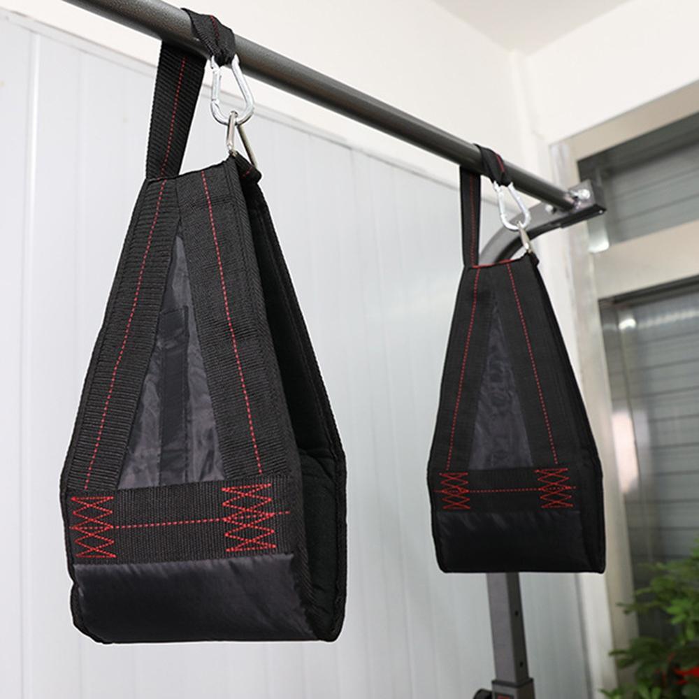 1 par de los músculos abdominales sacar Belt Sling colgando correas abdominales Fitness pesado barbilla siéntate músculo cinturón de formación