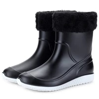 2021 non slip waterproof rain boots thick plastic men boots men shoes men shoes work boots fishing shoes 39 44