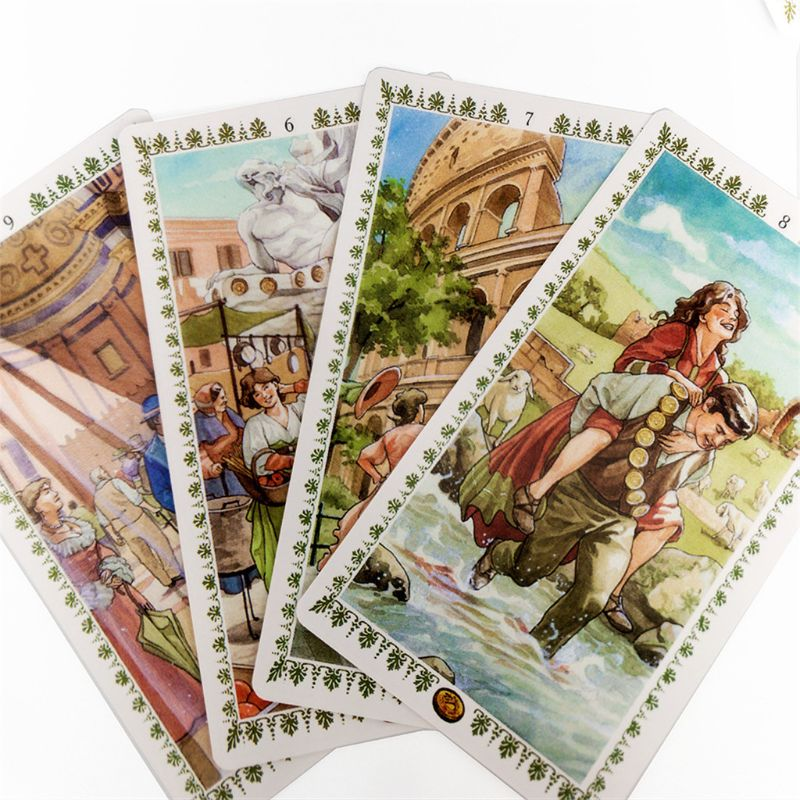 Romantic Tarot 78 Cards Deck English Tarot Guidance Fate Divination Oracle Family Party Board Game Playing Card fin sieve kipper tarot cards oracle english version board games family party playing card deck table game divination fate