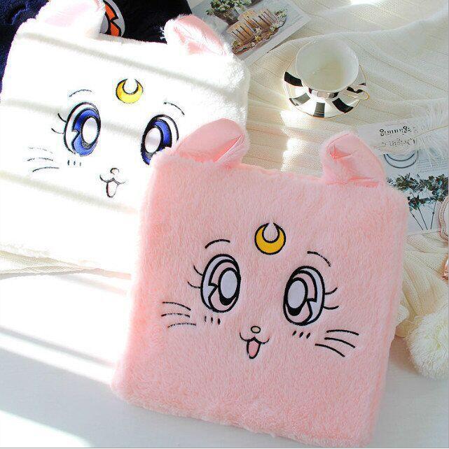 Lindo Sailor Moon Cat 35cm cojín de silla de felpa de dibujos animados muñecas de peluche juguetes regalo para niños amor mascota #2976