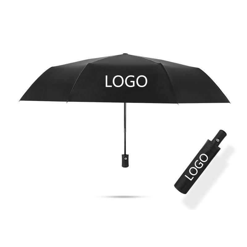 Carro totalmente automático guarda-chuva dos homens preto negócios dobrável guarda-chuva para cadillac xt4 xt5 xt6 srx ats cts xts ct6 xlr sol guarda-chuva
