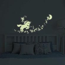 Autocollants muraux licorne   Lueur dans la nuit, étoiles conte de fées, Stickers muraux pour bricolage, chambre filles chambre chambre chambre chambre chambre chambre à coucher, chambre à coucher