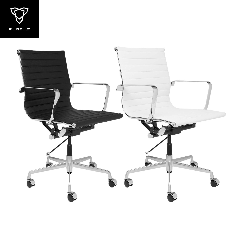 Furgle التنفيذي كرسي مكتب منتصف الظهر بولي Leather الجلود مع الأسلحة الراحة الميل كرسي ألعاب الفيديو ارتفاع قابل للتعديل مع عجلات كراسي دوارة
