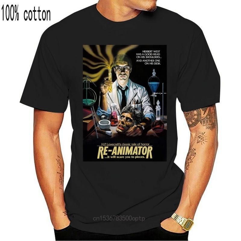 Re-animador T-Shirt H.P. Lovecraft herbert west 1985 filme de terror fangoria camiseta gráfico personalizado