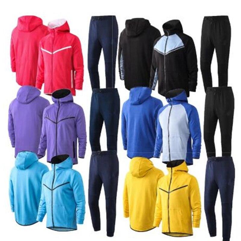 Tyburn 2021 winter casual cotton men's long sleeve suit training clothes hoodies hooded sweatshirt thin zipper sweatshirt
