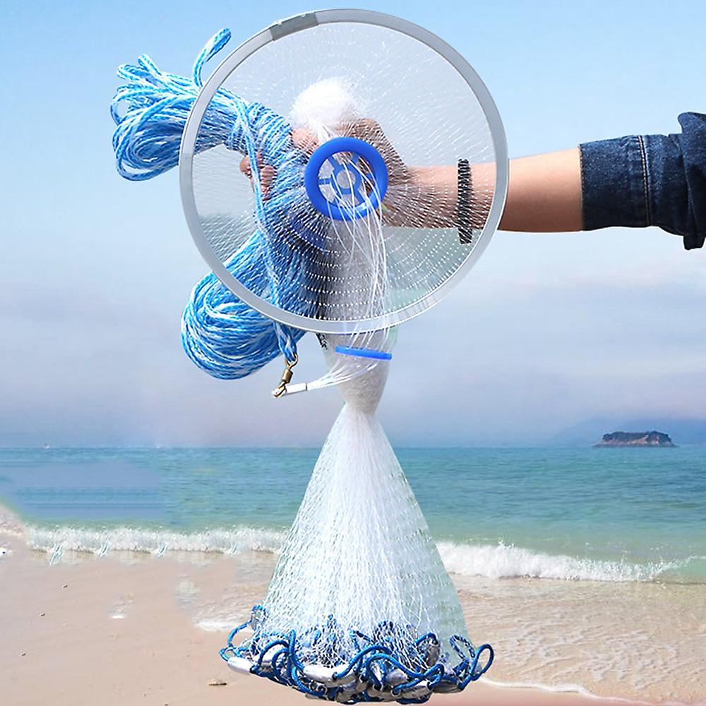 ثقب عميق يلقي صافي الحديد قلادة Hot البيع الصيد صافي مع الأزرق حلقة قطرها 240 سنتيمتر النمط الأمريكي شبكة صغيرة