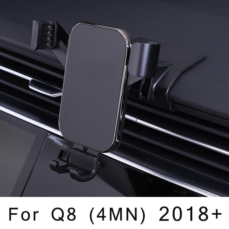 Автомобильный держатель для телефона Audi Q7 Q8 4M крепление на вентиляционное отверстие автомобильный Стайлинг кронштейн GPS подставка вращающ...