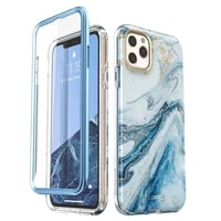 i blason for iphone 11 pro case 5 8 2019 cosmo full body shinning glitter marble bumper case with built in screen protector