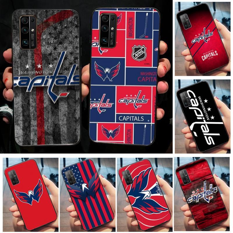 Riccu Washington hockey team badge DIY Phone Case for Huawei Honor 20 10 9 8 8x 8c 9x 7c 7a Lite view pro