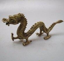 Arbeitet von kunst Sammlung Chinesischen Messing Geschnitzten Drachen Skulptur/Home Feng Shui statue