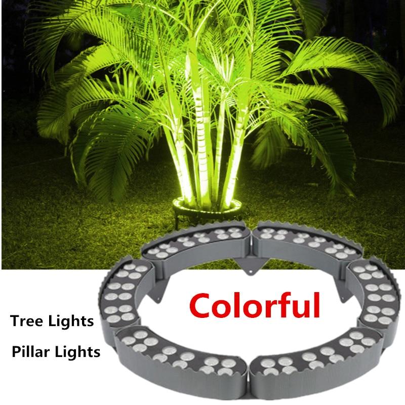 Tree Lights Pillar Lights Outdoor Waterproof Landscape Lighting Tree Holding Lamp 48W 60W 72W 84W DC24V Garden Christmas Decor
