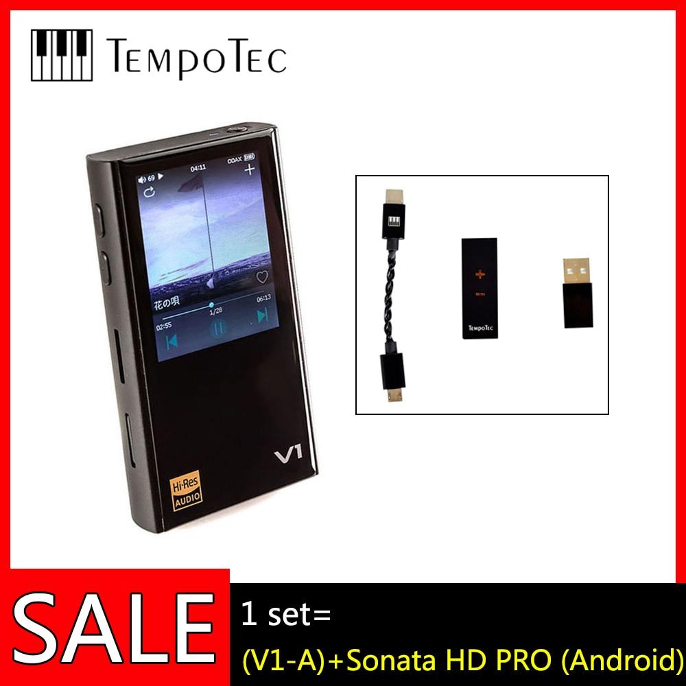 TempoTec V1-A + Sonata HD PRO(Android),HIFI PCM & DSD 256 плеер Поддержка Bluetooth LDAC AAC APTX IN & OUT USB DAC для ПК с ASIO