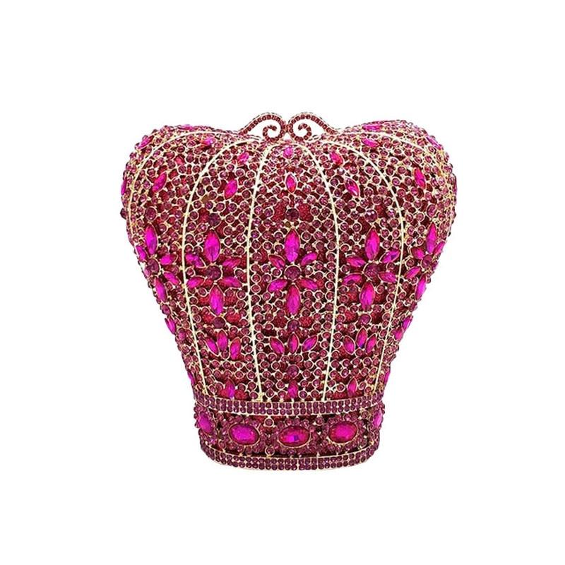 سيدة زهرة مساء مخلب محفظة فاخرة الماس كريستال المرأة عشاء مأدبة المحفظة حقائب سيدة الزفاف براثن الزفاف حقائب