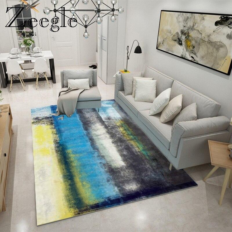 Zeegle طلاء حبر السجاد الشمال لغرفة المعيشة مستطيل غرفة نوم منطقة البساط المضادة للانزلاق طاولة القهوة الحصير الكلمة السرير السجاد