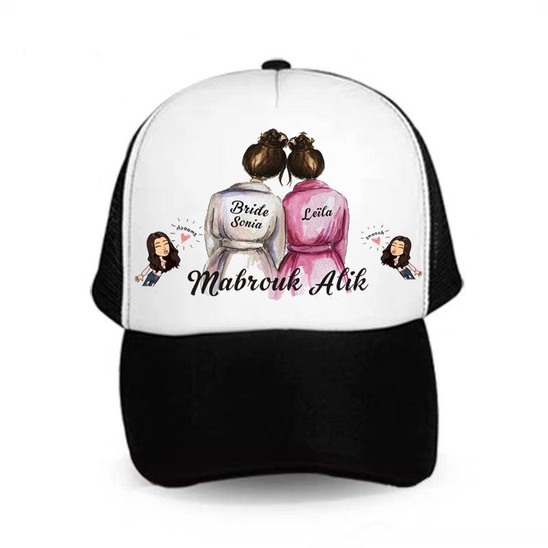5 uds foto personalizada gorra de béisbol boda propuesta flor chica equipo novia novio Squad despedida de soltera fiesta dama de honor padrino regalo
