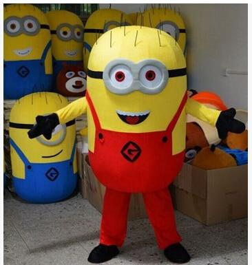 Desprezível me 2 mascote traje desprezível me minion traje mascote fantasia dos desenhos animados traje