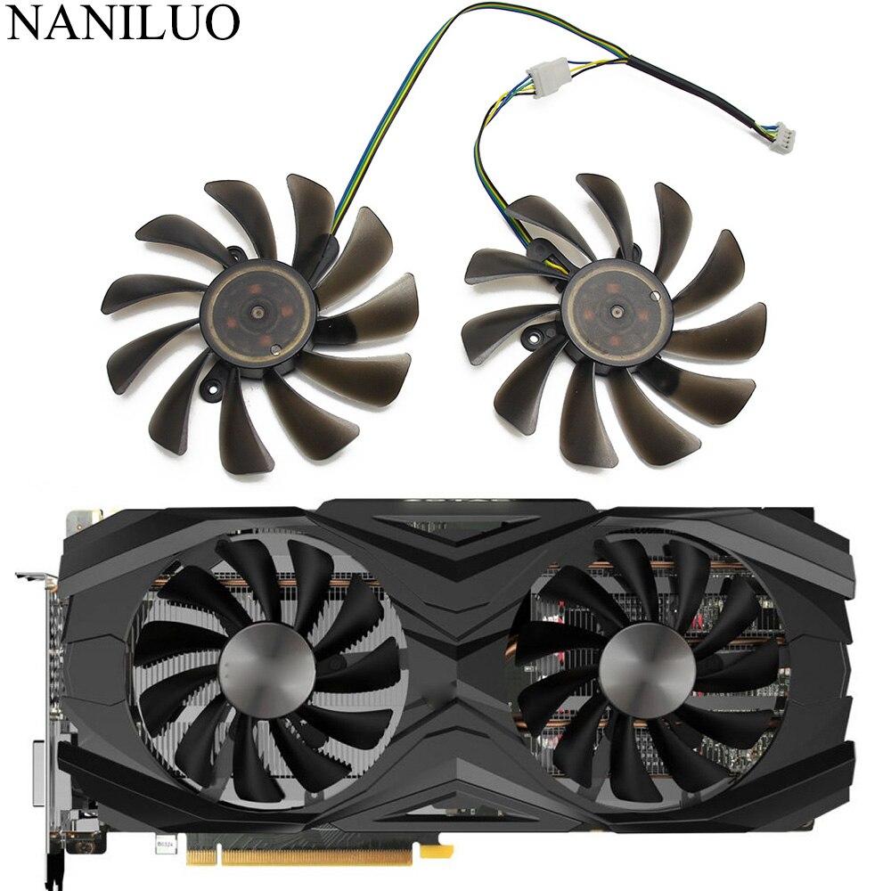 2PCS/lot 95mm Cooler Fan Replace For Zotac GeForce GTX 1070Ti 1080 Ti GTX1070 Ti GTX1080Ti AMP Edition Graphics Card Cooling Fan