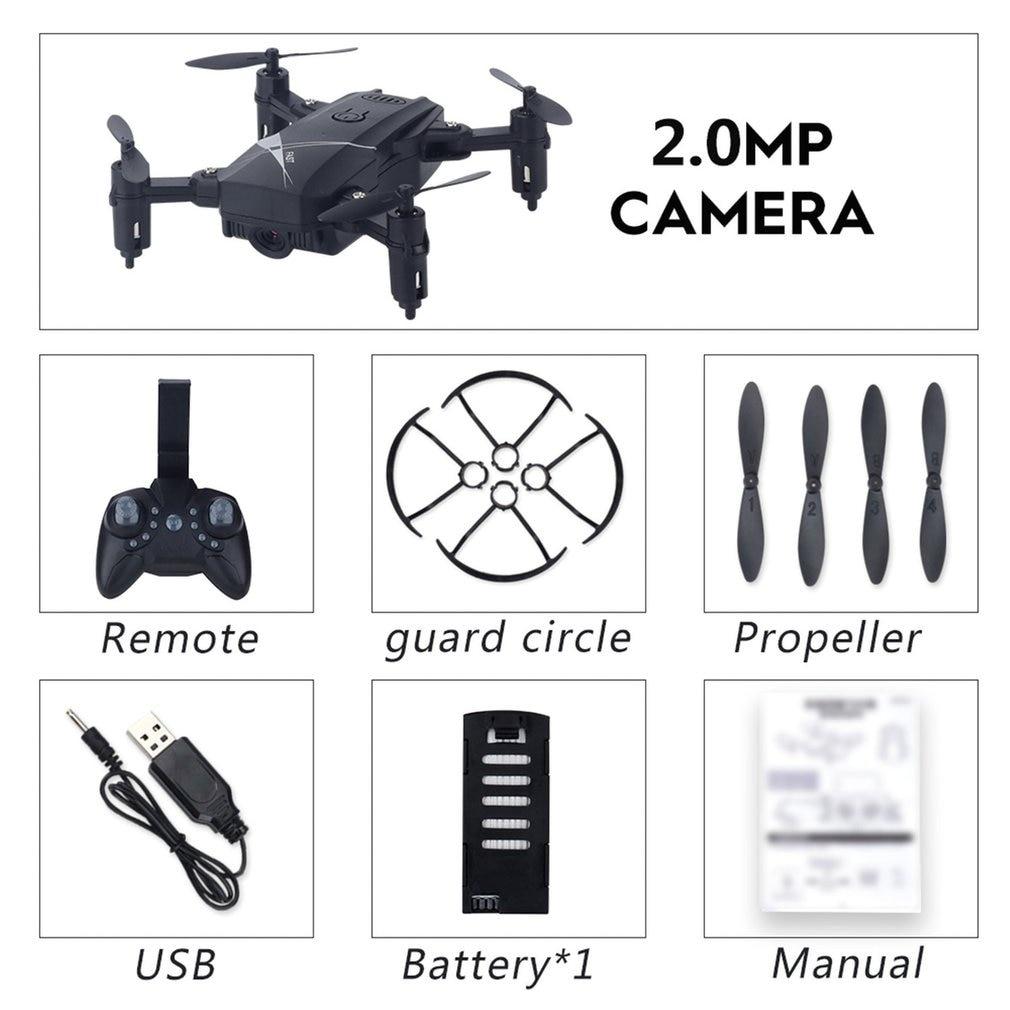 LF602 2,4G Mini FPV plegable RC Quadcopter Drone avión con 720P HD Wifi Cámara gesto Selfie altitud