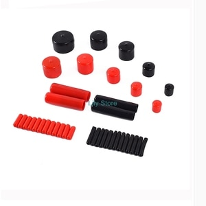 50PCS 1.3-10mm Inner Dia PVC Nuts Bolts Pipe Cable Slip Cap End Cover Fitting Red Black