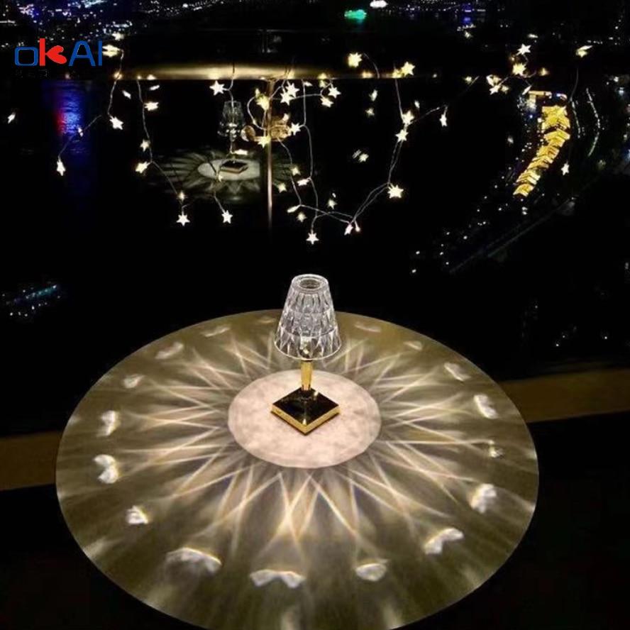Modern Aesthetic Unique Night Lighting Crystal Table Lamp Bedroom Living Room Desk Lamp Wife Gift Art Wedding Decoration enlarge