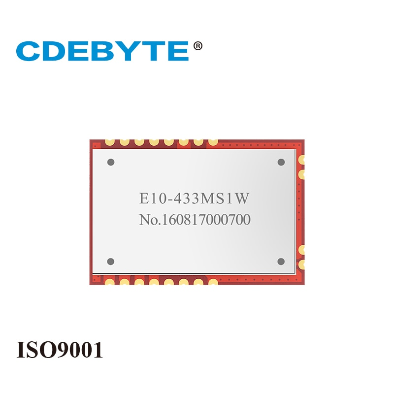 SI4463 30dBm SPI SMD IoT Uhf Wireless Transceiver RF Module 1W Stamp Hole Antenna E10-433MS1W CDEBYTE