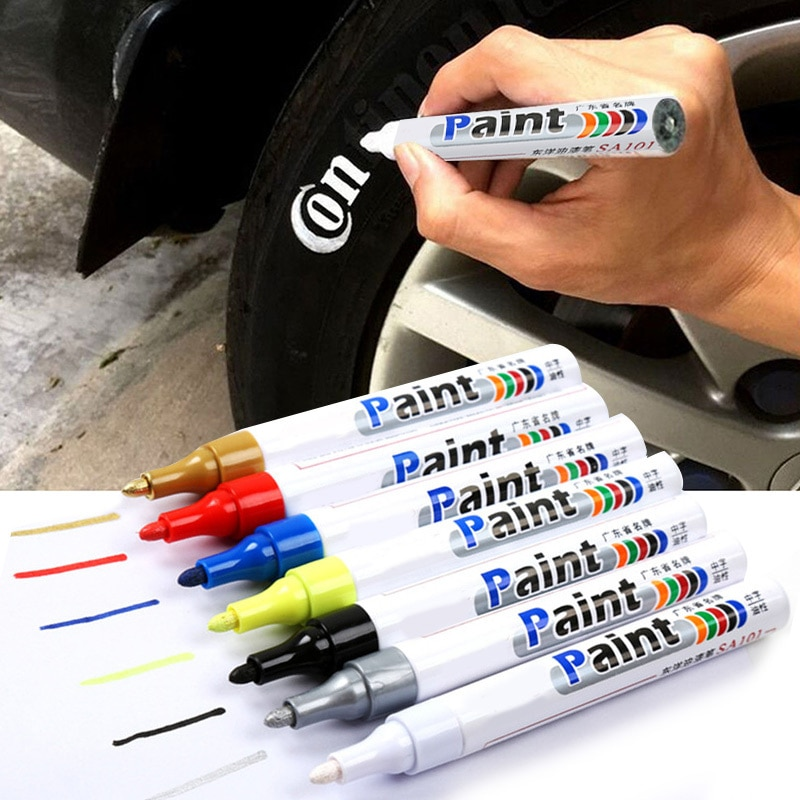 Paint Cleaner Car Wheel Tire Oily Painting Pen Auto Rubber Tyre Polishes Metal Permanent Marker Graf