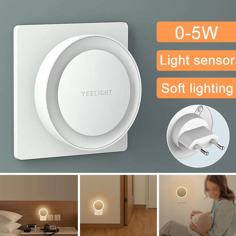 Yeelight YLYD11YL Light Sensor Plug-in LED Night Light EU Plug Emergency Lantern Smart Indoor Lighting Human Body Sensor