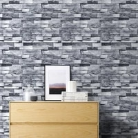 light gray brick self adhesive stone peel and stick wallpaper brick faux textured wallpapers stone bathroom ground wallpapers