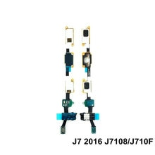 Home Button Return Key Sensor Audio Jack Flex For Samsung J7 2016 J7108 J710F / J7008 J700F / J7prim