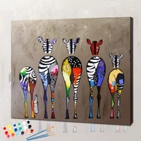 zebra painting by numbers coloring on canvas for adult paint diy with frame animal drawing picture by number decoration wall art