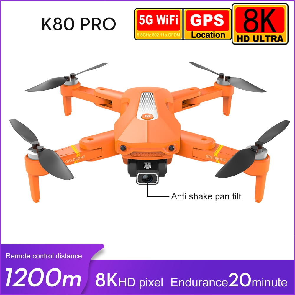 K80 PRO GPS Drone 8K 4k professional Dual HD Camera Aerial Photography Brushless Motor Foldable Quadcopter RC Distance 1.2km