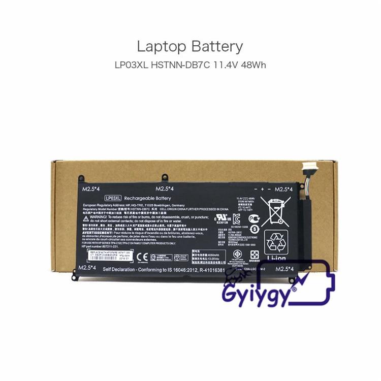 Batería LP03XL... TPN-C121... TPN-C122... TPN-C124 para HP ENVY 15-ae122tx envidia 15-ae124tx 15-ae125tx HP envidia M6-P113Dx M6-P